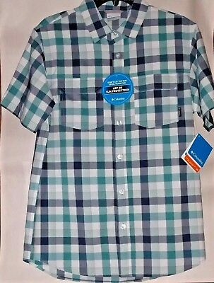 cd017da2e42 Columbia Men's Westerly Winds Plaid Omni Shade UPF30 Short Sleeve Shirt  Small