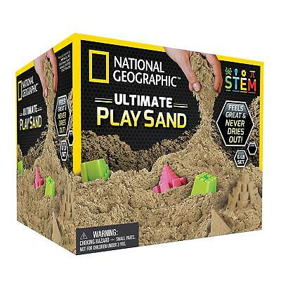 NATIONAL GEOGRAPHIC Play Sand Combo  Natural Sand Castle Molds Kinetic Sensory