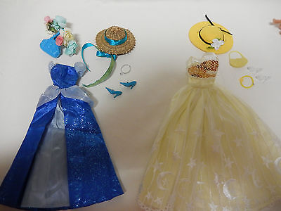 Barbie Doll Clothes - 2 lovely complete outfits with jewellery, bags & hats plus