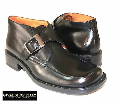 Ankel Boot Italy Made Buckle All Leather Lame;(Last Long) Givaldi Of Italy,#8952