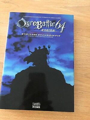Guide de jeu Nintendo 64 Ogre Battle 64 Version JP