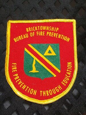 713 - Brick Township NJ Bureau of Fire Prevention Through Education Patch
