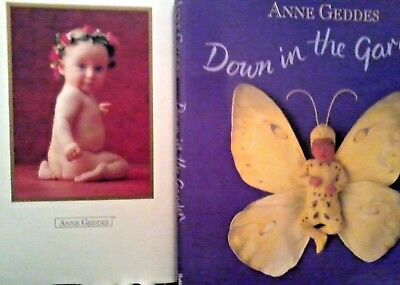 ANNE GEDDES PHOTO ALBUM & DOWN IN THE GARDEN large heavy books