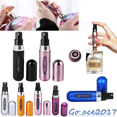 5ml Mini Easy Refillable Bottle Travel Perfume Aftershave Atomiser Pump Spray