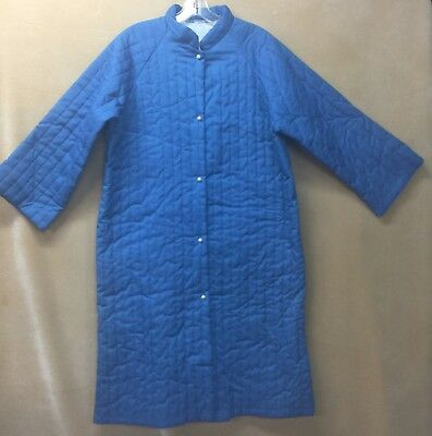 Vtg Blue Quilted Robe Never Worn NO tags