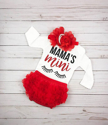 Lace Newborn Baby Girls Long Sleeve Romper Tutu Pants Skorts Outfits Clothes UK