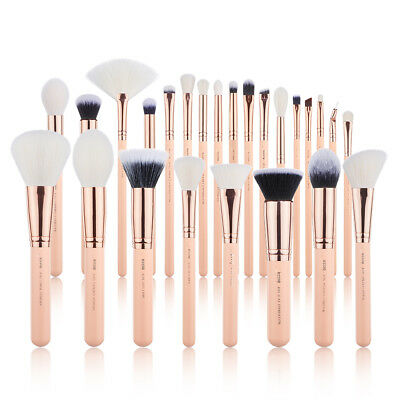 NEW Jessup  Professional 25Pcs Makeup Brushes Set Cosmetic Cheek Brush Tool Pink