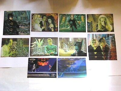1995 FLEER ULTRA Batman Forever Animaction INSERT 13 Card LOT! GOTHAM + G-1 A-1!