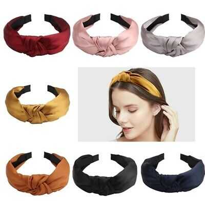 Ladies Fabric Elastic Hairband Knot Headband Headwrap Hair Accessories