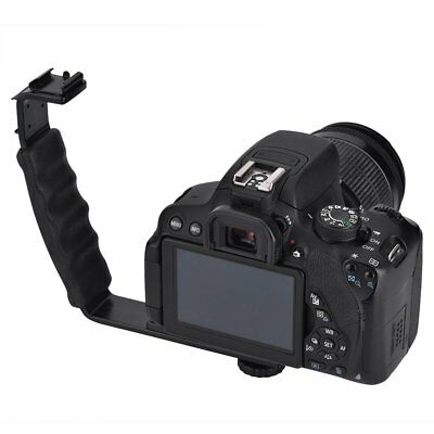 L-bracket Adjustable Hot Shoe Mount For Video Light Flash DSLR Camera Camcorder