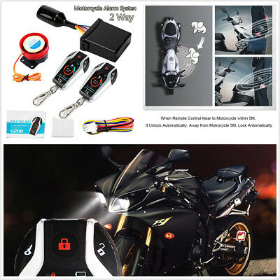 PKE 2 Way Motorcycle Alarm Anti-Theft Security System Remote Engine Start 12±3V