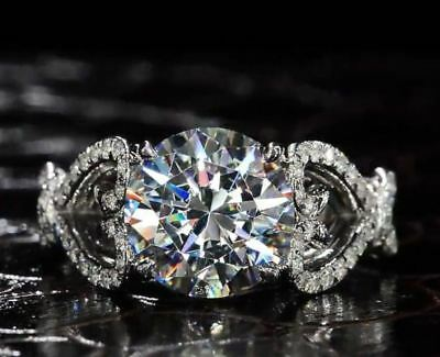 2.Ct Round Cut Moissanite Diamond Solitaire Engagement Ring 14k White Gold Over