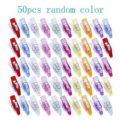 50pc Plastic Wonder Clips Holder Tools Fabric Clips Craft Sewing Knitting Tools