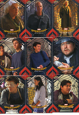 2017 Upper Deck Spider-Man Homecoming complete 100 Card Silver Parallel Set RARE