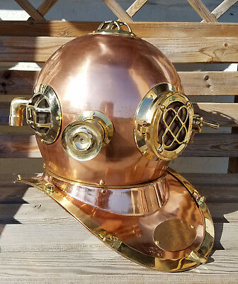 "18"" U.S Navy Diving Helmet Mark V Deep Sea Divers Helmet Vintage Replica"