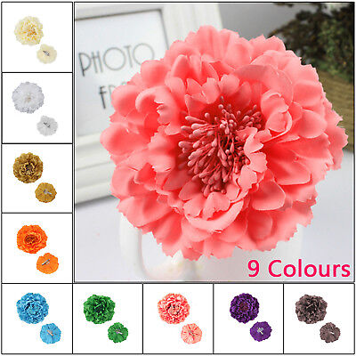 Large Flower Peony Hair Clips Grips Vintage Wedding Bridal Bridesmaid Prom