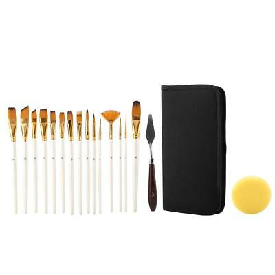 12Pcs Artist Paint Brush Set Brushes Painting Decorating Tools With Accessories