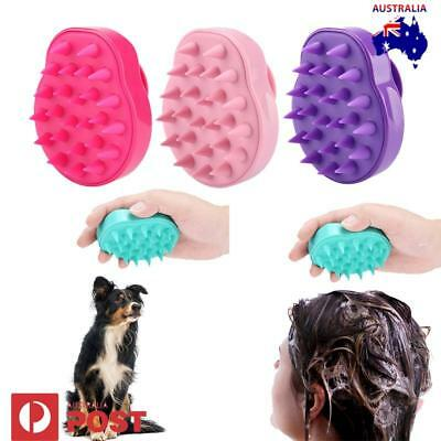 AU Shampoo Scalp Shower Bathing Hair Massage Massager Brush Comb Adult & Pet