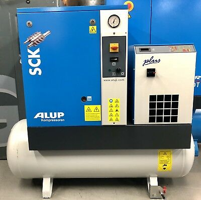 ALUP SCK3 Rotary Screw Compressor With Dryer! Immaculate! Single Phase! 230v!