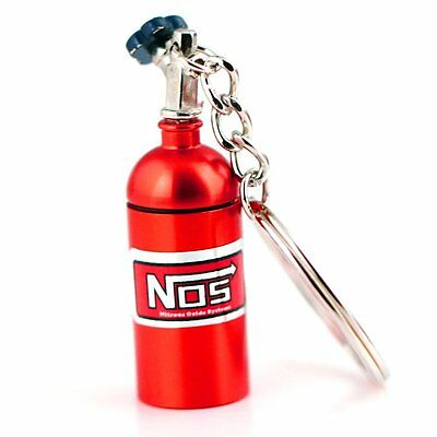 Red NOS Bottle key chain With Container Pocket! USA