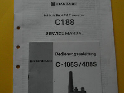 Amateufunk :STANDARD C 188 Service-Manual  Org. m. Bed.Anleitung !!