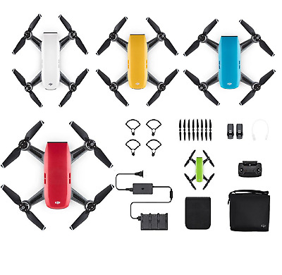 DJI Spark Drone Fly More Combo- Alpine White (UK)-5 colors with all accessories