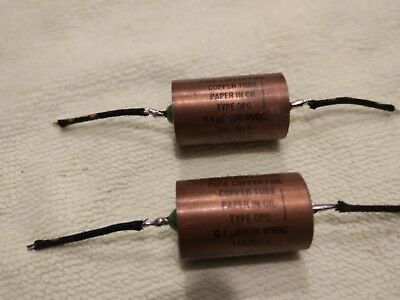 JENSEN pure copper -copper tube  pair matched 0,1 uf 630 used wire duelund 20awg