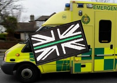 Thin GREEN Line Union Jack  Badge / Patch  LARGE £2.50
