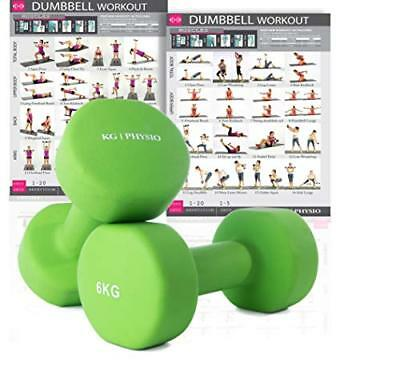 Premium quality dumbbells for women and men, sold as a set of 2 (FREE ...