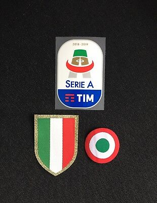 Serie A Patch 2018-2019 & Scudetto & Coppa Italia Sleeve Patches/Badges Juventus