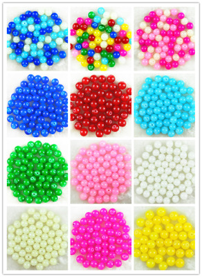 50Pcs 8mm Czech Solid Glass Pearl Round Spacer Loose Beads DIY Jewelry