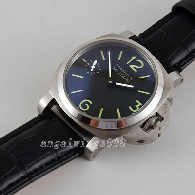 44mm parnis 17 jewels hand winding 6497 Asia mechanical watch Military luminous