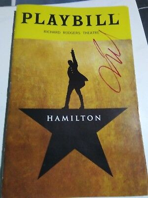 SIGNED-HAMILTON-(LIN MANUEL) (Broadway) PLAYBILL-JAMES MONROE IGLEHART.-PROOF