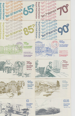 GB  Folded Booklets 1976 - 1979   65p - 90p  FC1 - FG8  Single Booklets