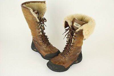 7714e417f20 UGG WOMENS ADIRONDACK Tall Sheepskin Leather Snow Boots Waterproof Sz 7