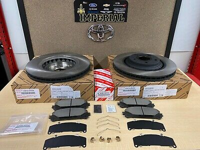 2008-2018 Toyota Highlander Oem Genuine Front Brake Rotors, Tcmc Pads  & Shims