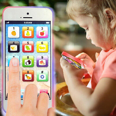Educational Play Phone Model Voice Light Toddler Baby Development Learning Toy