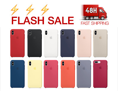 Cover Case Apple iPhone XS,XR,X,8,7,6,Plus,5,5S,SE Logo Genuine -30% NEW COLORS