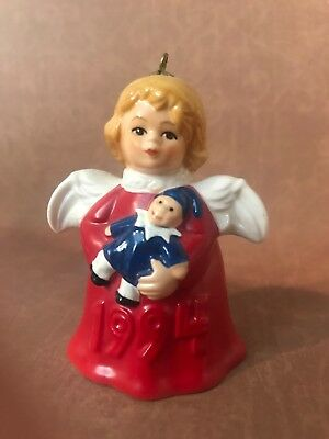 Goebel Hummel Angel Bell Ornament 1994 Red