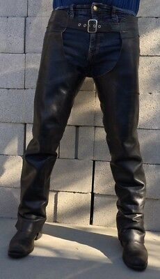 American Made Fine Leather Motorcycle Chaps Mens Long