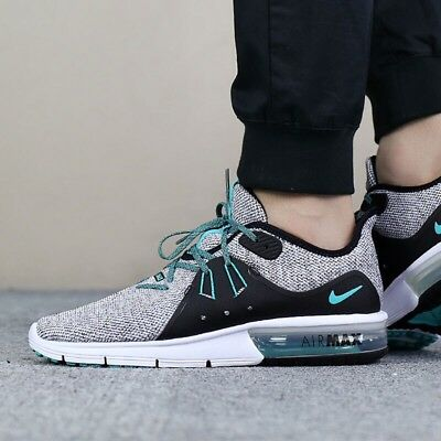 3ebbd0e10b Nike Air Max Sequent 3 921694 100 Hyper Jade Men's Running Shoes 100%  Authentic