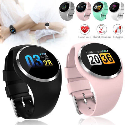 Q1 Bluetooth Heart Rate Smart Watch Wrist Waterproof Phone Mate Android IOS