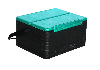 FLIP BOX MINI (Green/Black) Insulation Box Holds 12 Cans Foldable Lunch Cooler!