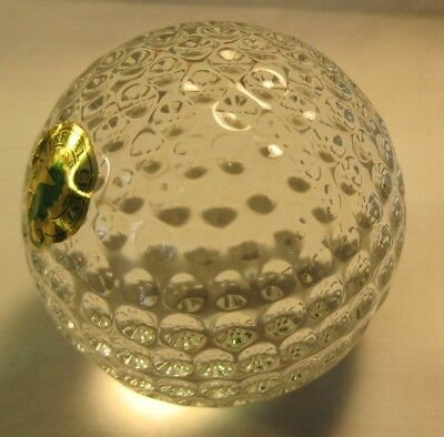 Vintage Waterford Crystal Golf Ball Made in Ireland Paperweight Desk Accessory