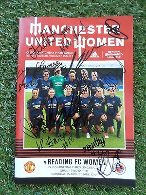 Manchester United Women Programme Hand Signed by 2018/2019 Squad - 17 Autographs