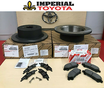 2008-2013 Highlander Genuine Oem Toyota Rear Brake Rotors, Tcmc Pads & Oem Shims
