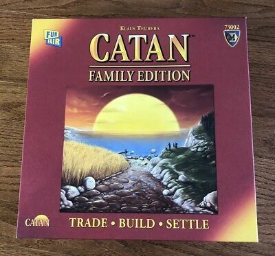 Catan Family Edition Klaus Teuber's Trade Build Settle Board Game Complete Set