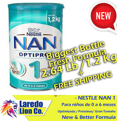 1 NESTLE NAN OPTIPRO 1 FORMULA 1.2KG (2.6Lb)/ BIGGEST CAN/ GRANDISIMO+FREE SHIP