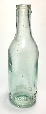 Antique Sea Foam Green Early Los Angeles California Glass Bottle House & Sons H
