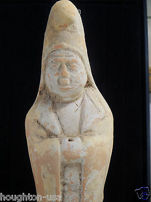 RARE & Ancient Chinese Tang Dynasty Terracotta Male Tomb Attendant Statue!